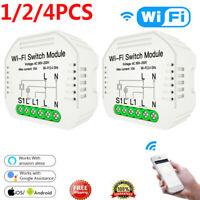 1/2/4xHidden Smart Switch Smart Life/Tuya APP 1/2 Way 90-250V WiFi Switch Module