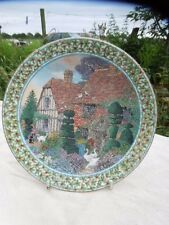 ROYAL WORCESTER COLLECTOR'S FINE CHINA PLATE 'Cottage Gardens' December