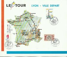 grand document  cyclisme velo tour de France Lyon ville départ 1991