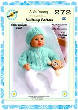 """DOLLS KNITTING PATTERN no 220 for ANNABELL 18/""""//19/"""" doll by Daisy-May."""