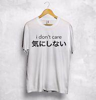 I Don't Care T Shirt K-POP Japanese Chinese Korean Anime Sarcasm Festival Kawaii
