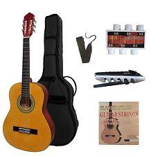 1/2 Konzertgitarre, J3Links,Tasche,Band,Set,Kapodaster,Ersatzsaiten,Stimmpfeiffe