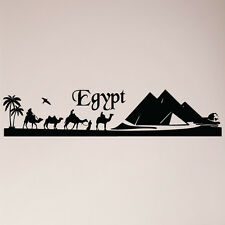 """48"""" Egypt Pyramids Camel Skyline Desert Silhoutte Wall Decal Sticker Mural"""