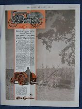 1930 Allis-Chalmers United Tractor Ad - Crease In Center - Selling AS IS