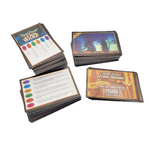 Star Wars Trivial Pursuit Collectors Edition 334 Replacement Trivia Cards 1997
