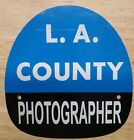 LA COUNTY Photographer FIRE HELMET SHIELD