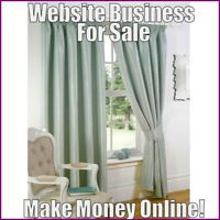 Fully Stocked CURTAINS Website Business|FREE Domain|FREE Hosting|FREE Traffic