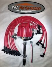 CHEVY HEI DISTRIBUTOR 283-305-327-350-383-400 RED + 8MM SPARK PLUG WIRES - USA