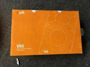Polk v65 6.5' High Perfomance Vanishing in-wall Speaker brand new each