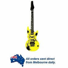 YELLOW Rock Star Inflatable Electric Guitar Kids Birthday Party Favors Bucks