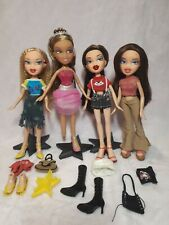 Lot of 4 BRATZ Dolls with Clothing - Cloe, Dana, Yasmin, and Phoebe