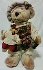 "15"" tall DanDee (tm} Collectors Choice Cuddly, Plush teddy w/baby teddy w/stand"
