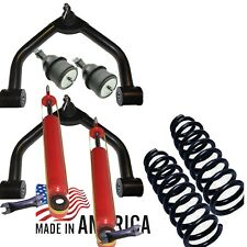 """D 1988-1999 Chevy GMC C2500 C3500 3"""" Lift Coil Springs Shocks level Upper Arms"""