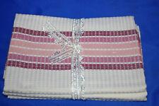 Vintage 3xArbeits Handtuch Wischtuch Küchentuch Einwebmuster 49 x 96cm unbenutzt