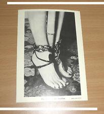 BIZARRE Postkarte John Willie Erotik Akt Fetisch BDSM Bondage Foot Ketten Fessel