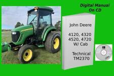 John Deere 4120 4320 4520 4720 4000 Twenty Series With Cab Manual Tm2370