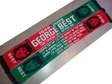 GEORGE BEST  MAN UNITED  KNITTED SCARF. WITH SONG ON REVERSE