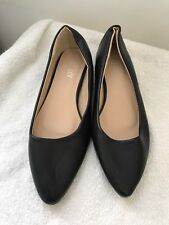 Ladies Shoes Ella Lux Black 4 Black Formal  <JJ9518