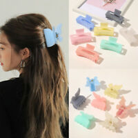 Rectangle Hair Claws Solid Color Plastic Hair Grab Clips Korean Hair Accessories
