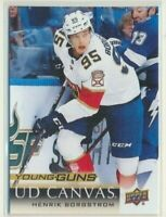 2018-19 Upper Deck Series 1 Canvas Young Guns C104 Henrik Borgstrom Panthers