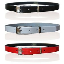 CHILDRENS LEATHER SKINNY BELTS KIDS BELT GIRLS CHROME KEEPER MADE IN ENGLAND
