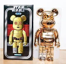 Star Wars Bearbrick 400% Stussy CP30 Very Rare Gold Robot