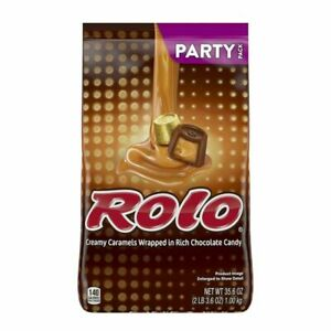 ROLO Candy, Chocolate Caramel with Milk Chocolate, Party Bag, 35.6 Oz