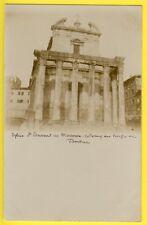 cpa 1900 Carte Photo ITALIE ROME Église St LAURENT in MIRANDA TEMPLE de FAUSTINE