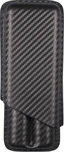 Cigar Case Slide Case 2er/185 MM/ To 24 MM Ø / Leather Look Carbondesign