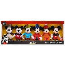 Disney Mickey Through The Years 90th Anniversary Plush Set of 6 Exclusive NEW