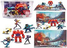 Genuine Disney Big Hero 6 Figure Play Set Figurine Toy Baymax Hiro Cake Topper