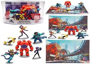 Big Hero 6 Figure Six Figures Play Set Ages 3+ Toy Baymax Hiro GoGo Playmat Gift