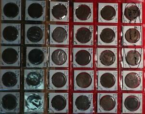 30- Great Britain 1/2 Penny Dated 1916-1925 Circulated Coins