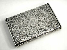 Antique Solid Silver Cigarette & Vesta Cases
