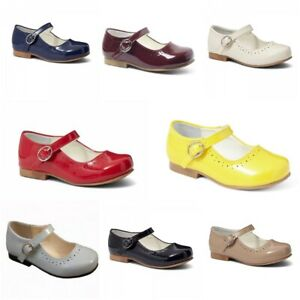 BNIB Girls Mary Jane spanish look patent shoes various colours