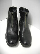 RJ Colt Black Leather Ankle Boot Size 8 M