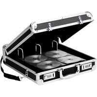 Vaultz Locking Media Binder 200 Count Black