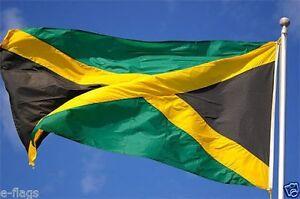 Giant Jamaica Jamaican Bob Marley Reggae Rasta Caribbean Flag Banner