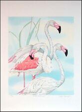 "Joyce Kasprzyk ""Greater Flamingo"" Serigraph Hand Signed Art Print MAKE AN OFFER"