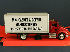 """MODIFIED  KENWORTH  T300 BOX TRUCK decalled as  """"M.C CASKET & COFFIN MANUFACT"""