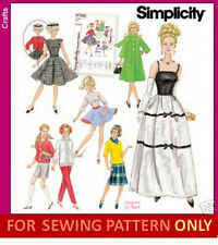 SEWING PATTERN! MAKE VINTAGE STYLE 11 1/2 INCH DOLL CLOTHES~OUTFIT!  FITS BARBIE