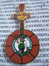 2012 HARD ROCK CAFE BOSTON CELTICS NBA LOGO BASKETBALL GUITAR LE PIN
