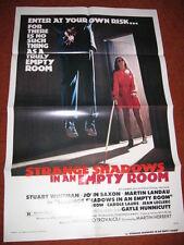STRANGE SHADOWS IN AN EMPTY ROOM original MOVIE POSTER 1977 horror suicide hang