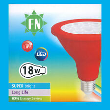 18W PAR38 Red Coloured LED Flood Reflector ES E27 Light Bulb Lamp