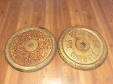 """2 WEIDER Standard 1"""" 25 Lb Weight Plates 50 Pounds Total Standard Grip Barbell"""