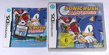 Jeu: sonic rush adventure pour la Nintendo DS + Lite + DSI + xl + 3ds + 2ds