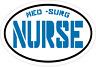 MED SURG NURSE DECAL - Blue Vinyl NURSE Sticker - Nurse Bumper Sticker
