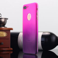iPhone 6 Plus 7 Ultra Thin Full Body Protector Hard Case Tempered Glass FR Apple Rose Purple for iPhone 7