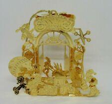 Danbury Mint Gold Plated 2006 Christmas Ornament Santa's Workshop