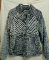 Simply Southern  Piped Sherpa Snap Front Woman's Pullover Size S Kangaroo Pocket